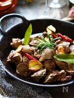 美味しく貧血対策★シットリ柔らか鶏レバーハーブ香るアヒージョ