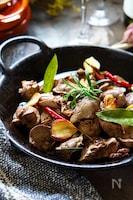 美味しく貧血対策★シットリ柔らか鶏レバーハーブ香アヒージョ風