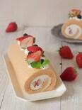 いちごの米粉ロールケーキ【小麦不使用】