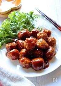 『豆腐でヘルシー*肉団子の甘酢あん』