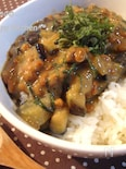 茄子の大葉味噌で☆ごはんがすすむネバネバ丼