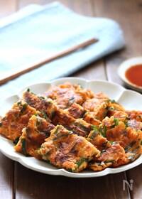 『豆腐と豚バラのチヂミ』