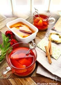 『【ホットワイン風】 オレンジのシロップ煮 & オレンジティー』