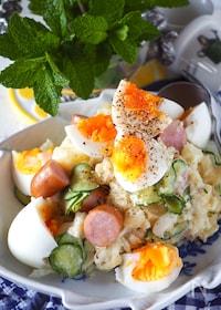 『【らくレピ*レンジで】ゆで卵たっぷりボリュームポテトサラダ』