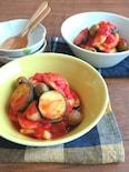 おうちで簡単イタリアン♪いかとズッキーニのトマトオリーブ煮