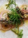 オイルサーディンのタイム漬けネギサラダ
