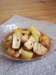 白身魚揚げのと長芋の煮物。