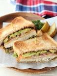 メカジキとアボカドのサンドイッチ