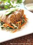 生姜肉巻き焼き蕎麦&野菜炒め