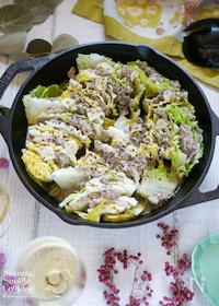 『旨味たっぷり!白菜と豚肉のミルフィーユ蒸し』