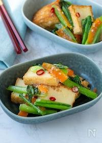 『味付けは塩麹だけ!小松菜と厚揚げとピリ辛ナムル風』