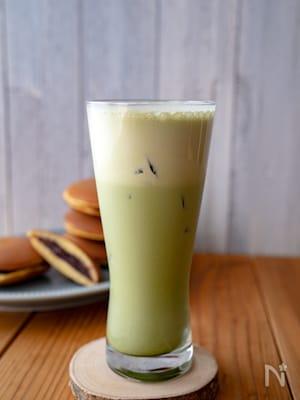 スタバ風♩濃厚なアイス抹茶ラテ
