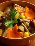 秋の彩り炊き込みご飯