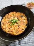 大和芋でふわふわ♫『キャベツとニラの和風お好み焼き』