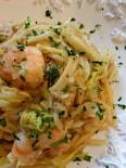エビと白菜のクリーミースパゲッティ