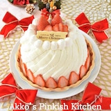 苺のクリスマスドームケーキ