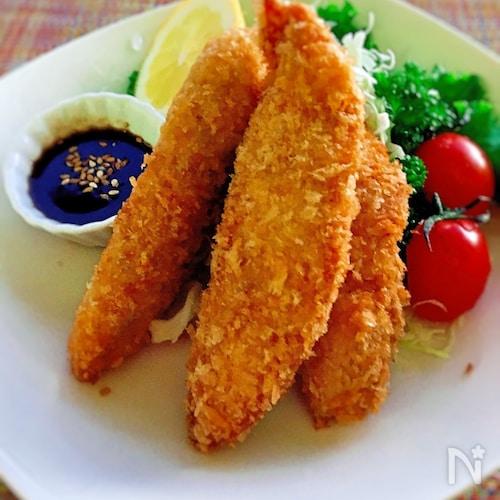 手間なし・簡単♪鶏ささみのカレー・マヨフライ