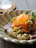 キムチと納豆でスタミナ!カツオのたたき