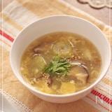 セロリと干ししいたけの中華スープ
