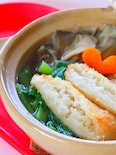 【きりたんぽ鍋】もちもちごはんと野菜の出汁が美味しい和風鍋