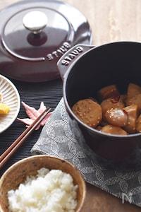 【STAUB・無水レシピ】里芋と玉こんにゃくの甘辛煮