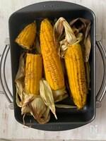 オーブンで作る焼きトウモロコシ