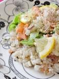 鮭とレタスのレモン炒飯