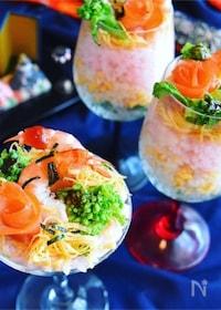 『エビと菜の花のカクテル寿司*ジュレキラリ』
