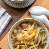 麺が欲しくなる♡ミートボール塩味de味噌ラーメンスープ♡