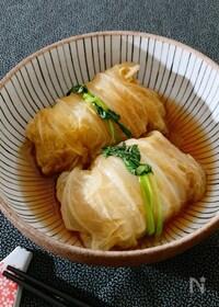 『豆腐入りでふんわり♡和風ロール白菜』