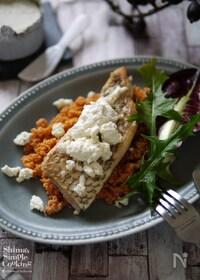 『鯛のムニエル ブルサンチーズとトマトのクスクスソース添え』