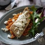 鯛のムニエル ブルサンチーズとトマトのクスクスソース添え