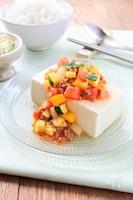 夏野菜たっぷり!冷やし麻婆豆腐
