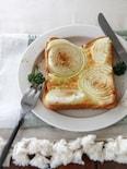 野菜で彩るチーズトースト。
