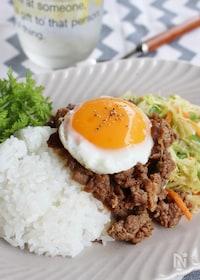 『牛薄切り肉で作るビビンバ風』