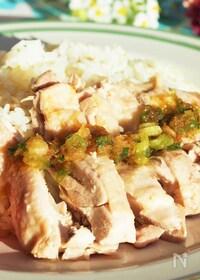 『炊飯器でかんたん調理♪【シンガポールライス(海南鶏飯) 】』