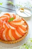【ホットケーキミックス】爽やかなグレープフルーツタルト