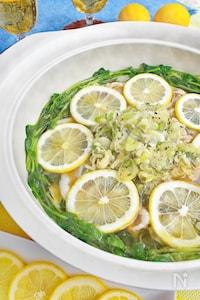 豚バラのねぎ塩レモン鍋