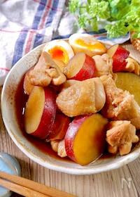 『ほっこりする美味しさ♡『鶏肉とさつまいもの煮物』』