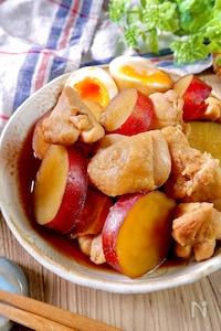 ほっこりする美味しさ♡『鶏肉とさつまいもの煮物』