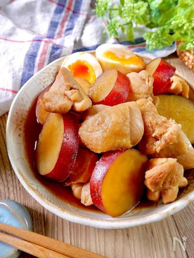 煮物 鶏肉 さつまいも さつまいもと鶏の煮物