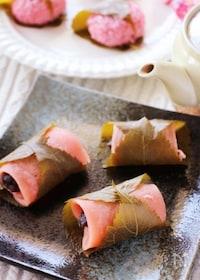 『レンジで簡単♡出来たての美味しさ♪もっちもちの関東風桜餅』