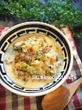 ワンコとごはん!白菜と豚肉の豆乳スープ仕立て