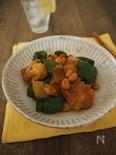 鶏とピーマンのカレー醤油炒め。