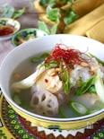 【おかゆで作る簡単スープ】煮込まない!ほろほろ鶏肉の参鶏湯風
