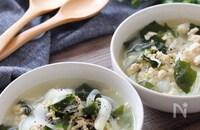 フライパンで簡単5分♡鶏ひき肉と新玉ねぎの食べるスープ