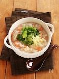 鮭とホタテの中華風粥