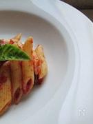 バジル香るトマトケチャップで食べるペンネ