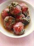 プチトマトのバジル味噌炒め