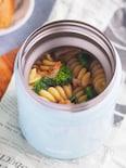 スープジャー使用♪菜の花と桜海老の和風パスタ